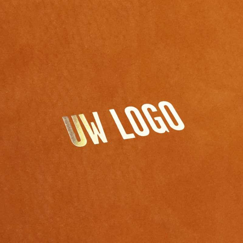 Bedrukking met 'uw logo' op een kaft
