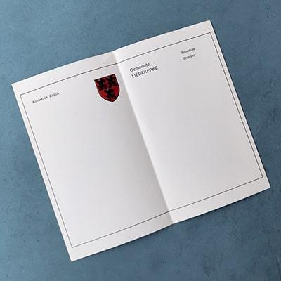 Standaard titelblad voor een trouwboekje