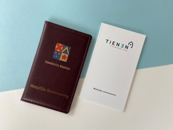 Wettelijk samenwonenboekje - lederen en papieren versies