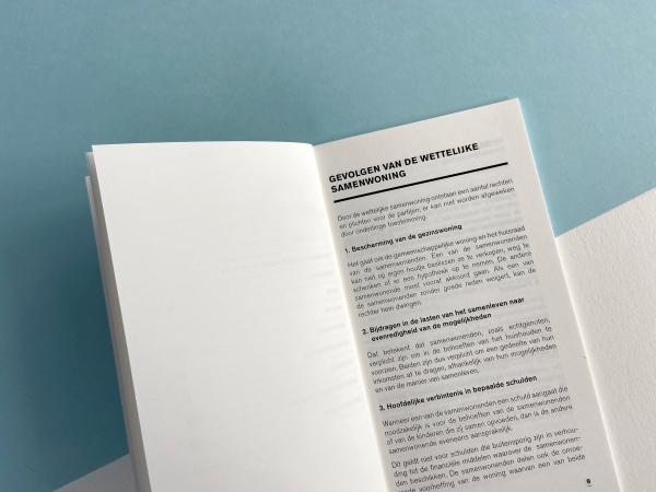 Wettelijk samenwonenboekje - standaard binnenwerk
